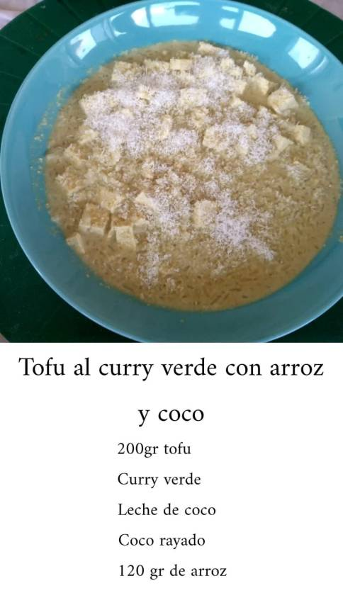 Tofu al curry verde